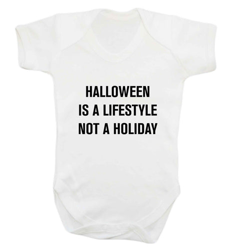 Halloween is a lifestyle not a holiday baby vest white 18-24 months