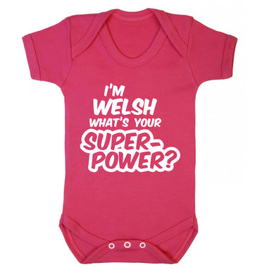 I'm Welsh what's your superpower? Baby Vest dark pink 18-24 months