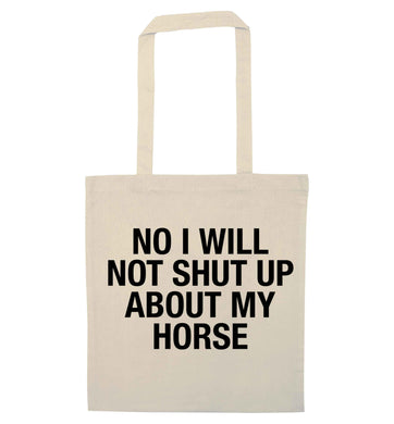 Warning may start talking about horses natural tote bag