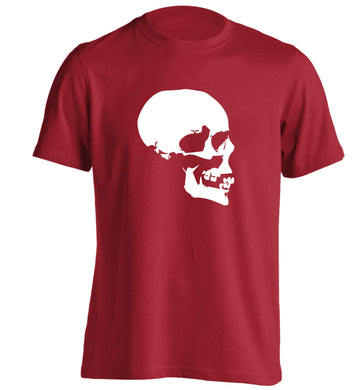Personalised Skull Halloween adults unisex red Tshirt 2XL