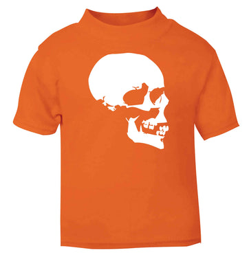 Personalised Skull Halloween orange baby toddler Tshirt 2 Years