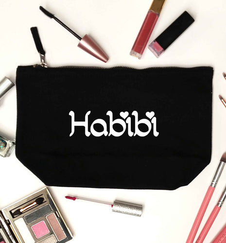 Habibi black makeup bag