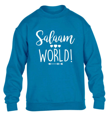 Salaam world children's blue sweater 12-13 Years