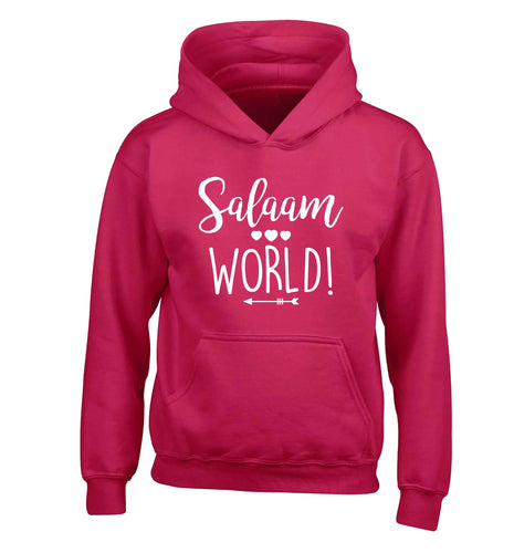 Salaam world children's pink hoodie 12-13 Years