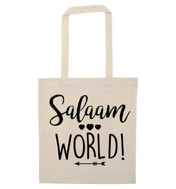 Salaam world natural tote bag
