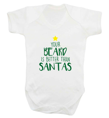 Your Beard Better than Santas baby vest white 18-24 months