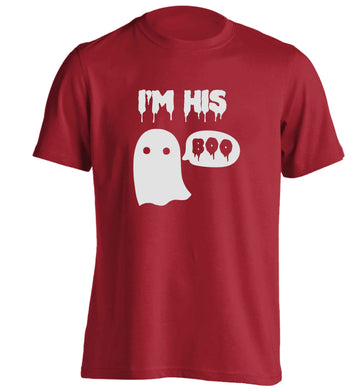 I'm his boo adults unisex red Tshirt 2XL