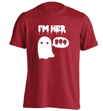 I'm her boo adults unisex red Tshirt 2XL