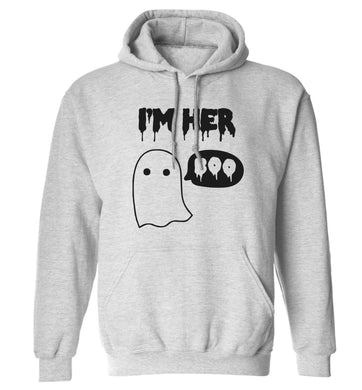I'm her boo adults unisex grey hoodie 2XL