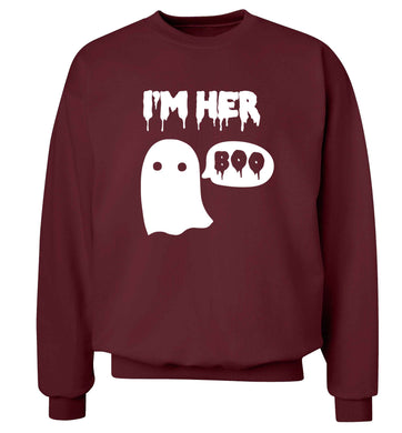 I'm her boo adult's unisex maroon sweater 2XL