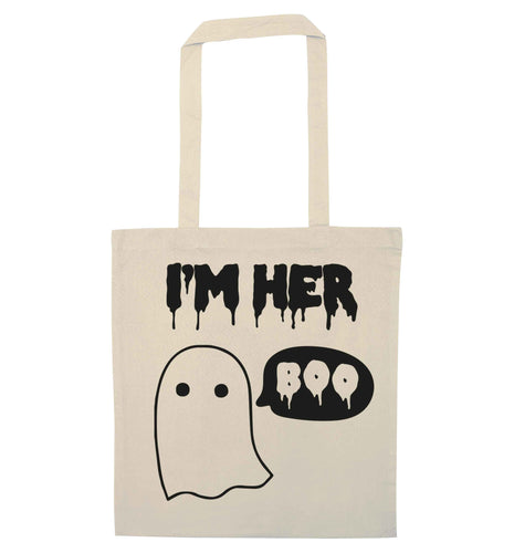 I'm her boo natural tote bag