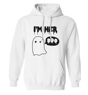 I'm her boo adults unisex white hoodie 2XL