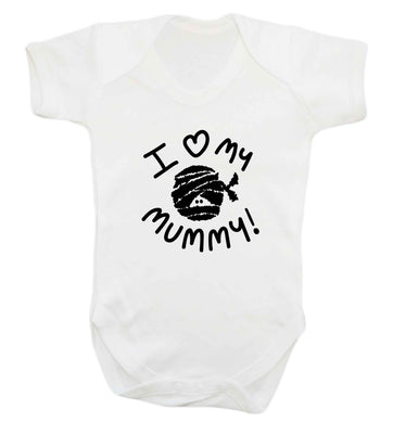 I love my mummy halloween pun baby vest white 18-24 months