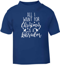 All I want for Christmas is a labrador blue baby toddler Tshirt 2 Years