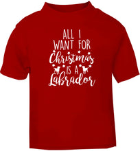 All I want for Christmas is a labrador red baby toddler Tshirt 2 Years