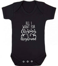 All I want for Christmas is a greyhound baby vest black 18-24 months