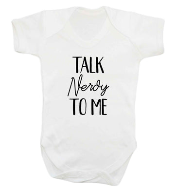 Talk nerdy to me baby vest white 18-24 months