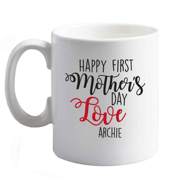 10 oz Personalised happy first mother's day love ceramic mug right handed