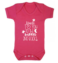 Uncle I love you to the moon and back Baby Vest dark pink 18-24 months