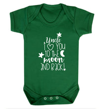 Uncle I love you to the moon and back Baby Vest green 18-24 months