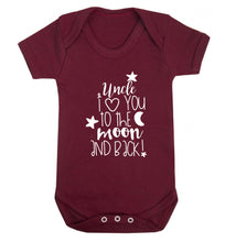 Uncle I love you to the moon and back Baby Vest maroon 18-24 months