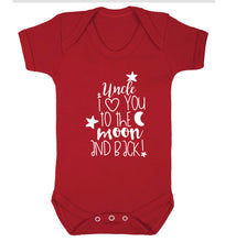 Uncle I love you to the moon and back Baby Vest red 18-24 months