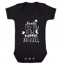 Auntie I love you to the moon and back Baby Vest black 18-24 months