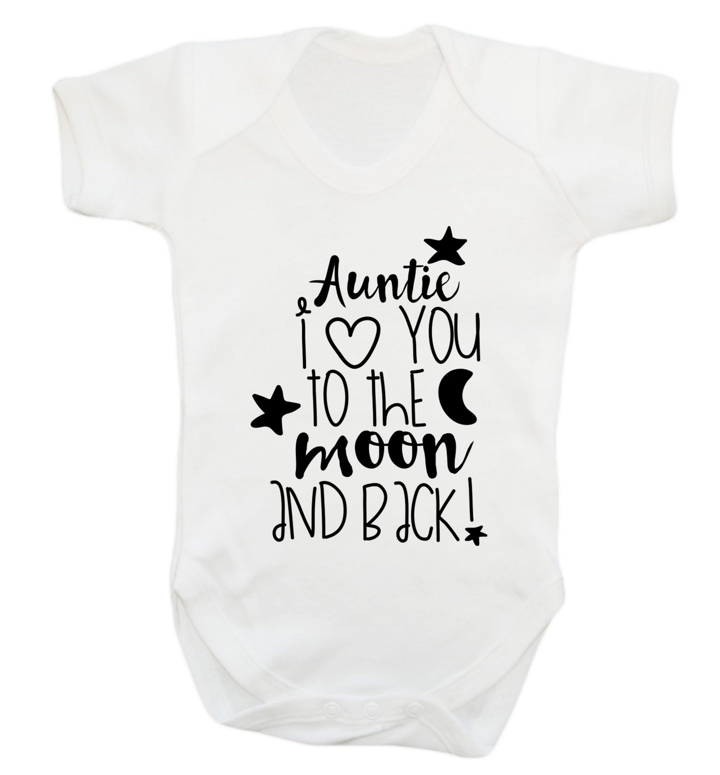 Auntie I love you to the moon and back Baby Vest white 18-24 months