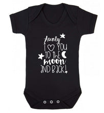 Aunty I love you to the moon and back Baby Vest black 18-24 months