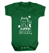Aunty I love you to the moon and back Baby Vest green 18-24 months