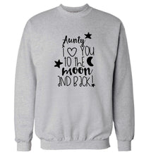 Aunty I love you to the moon and back Adult's unisex grey  sweater 2XL