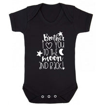 Brother I love you to the moon and back Baby Vest black 18-24 months