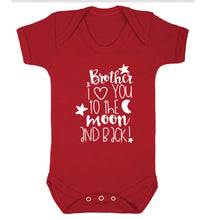 Brother I love you to the moon and back Baby Vest red 18-24 months
