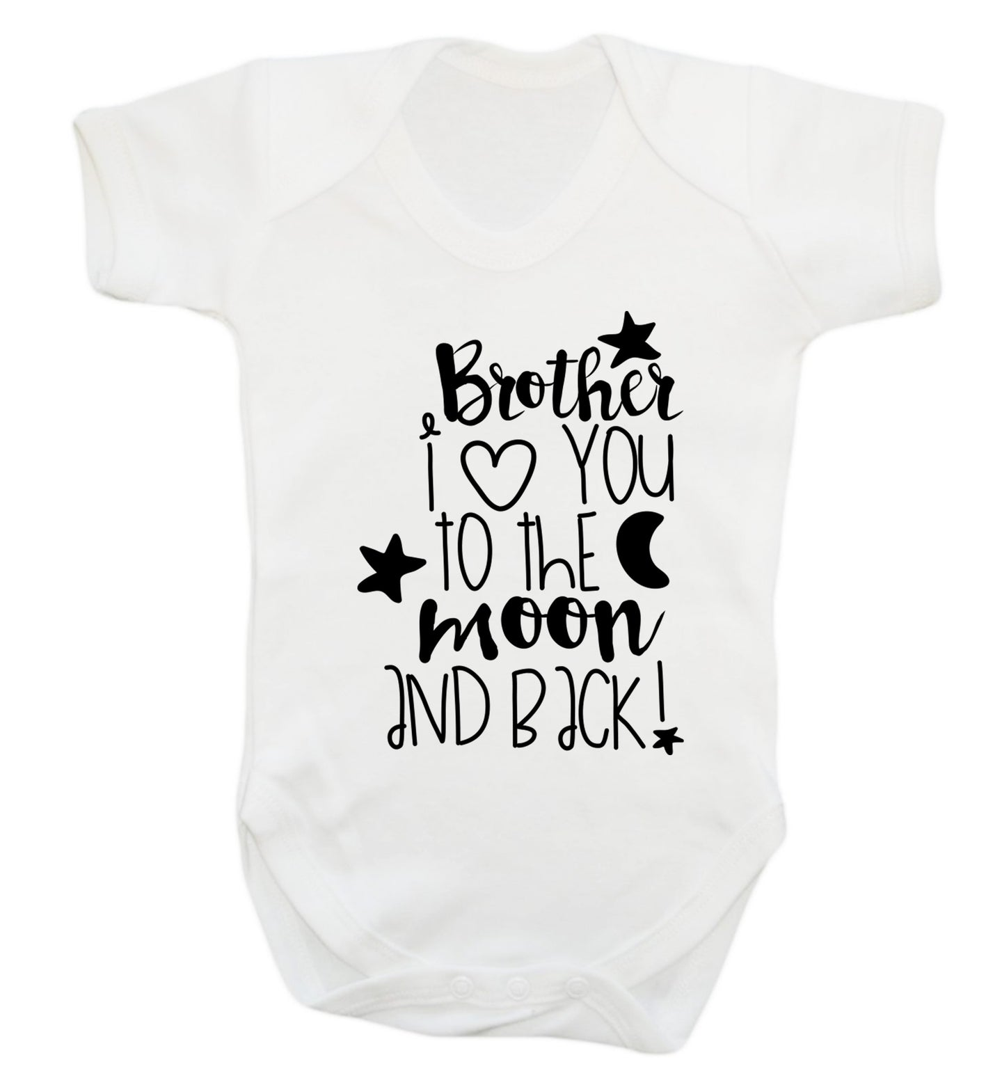 Brother I love you to the moon and back Baby Vest white 18-24 months