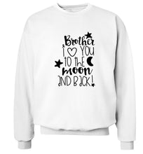 Brother I love you to the moon and back Adult's unisex white  sweater 2XL