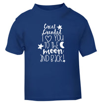 Great Grandad I love you to the moon and back blue Baby Toddler Tshirt 2 Years