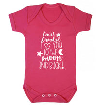Great Grandad I love you to the moon and back Baby Vest dark pink 18-24 months