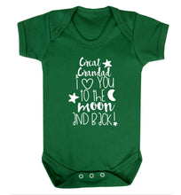 Great Grandad I love you to the moon and back Baby Vest green 18-24 months