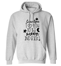 Grandson I love you to the moon and back adults unisex grey hoodie 2XL