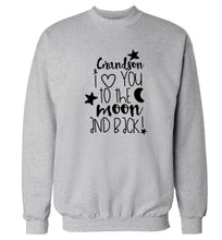 Grandson I love you to the moon and back Adult's unisex grey  sweater 2XL