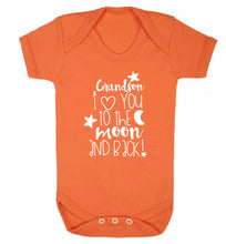 Grandson I love you to the moon and back Baby Vest orange 18-24 months