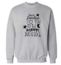 Great Grandma I love you to the moon and back Adult's unisex grey  sweater 2XL