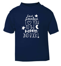 Great Grandma I love you to the moon and back navy Baby Toddler Tshirt 2 Years