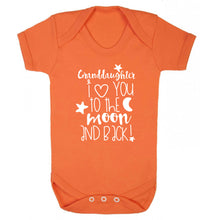 Granddaughter I love you to the moon and back Baby Vest orange 18-24 months