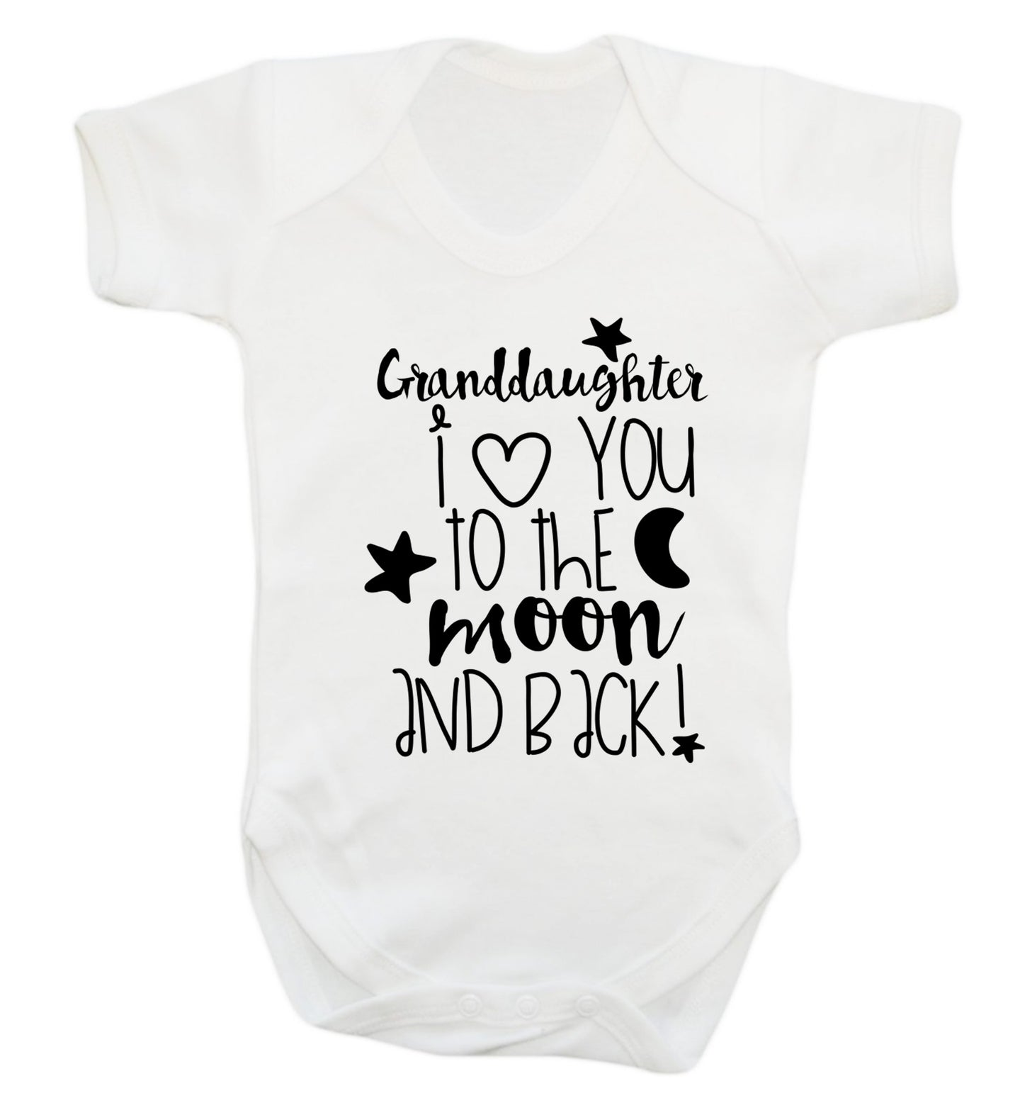 Granddaughter I love you to the moon and back Baby Vest white 18-24 months