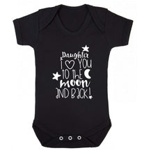 Daughter I love you to the moon and back Baby Vest black 18-24 months