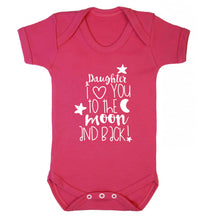 Daughter I love you to the moon and back Baby Vest dark pink 18-24 months
