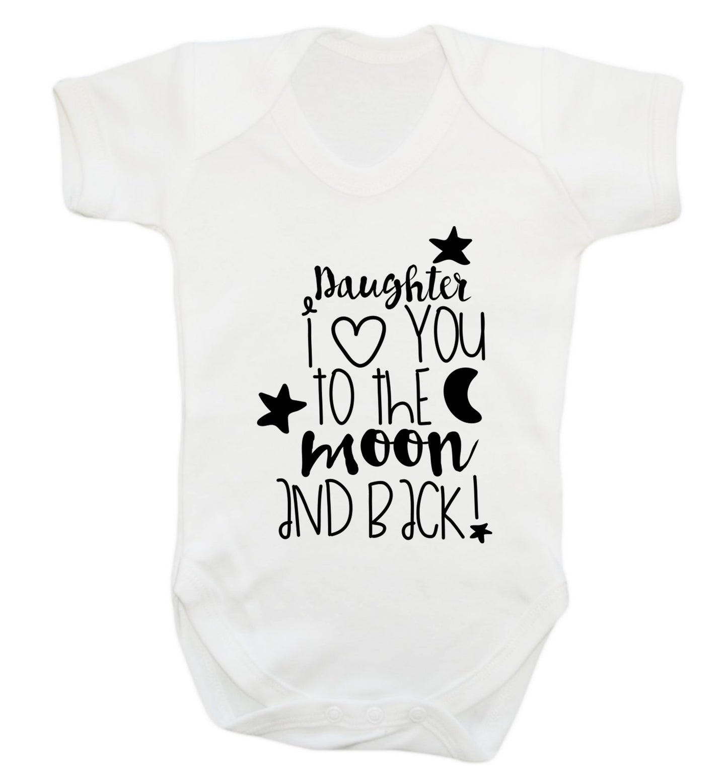 Daughter I love you to the moon and back Baby Vest white 18-24 months