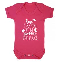 Son I love you to the moon and back Baby Vest dark pink 18-24 months