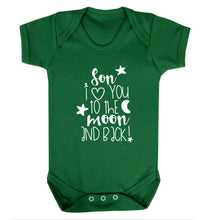 Son I love you to the moon and back Baby Vest green 18-24 months